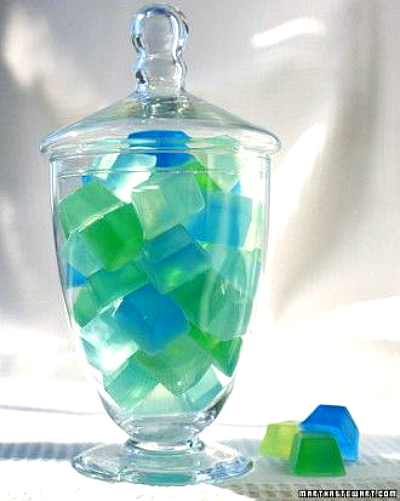 DIY Sea Glass Soap Cubes