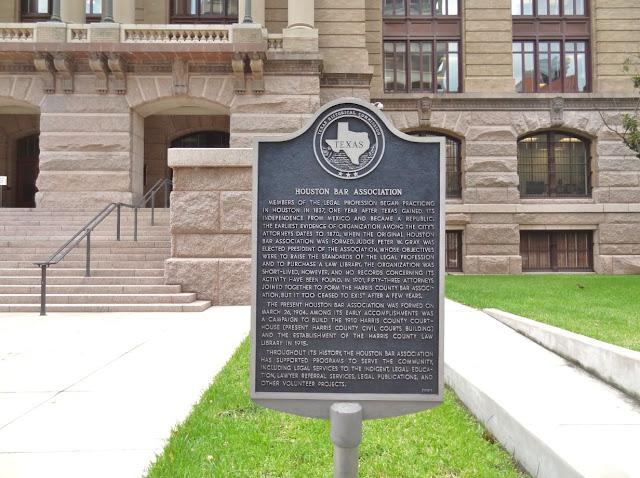 Houston Bar Association (HBA) Historical Marker at the Courthouse
