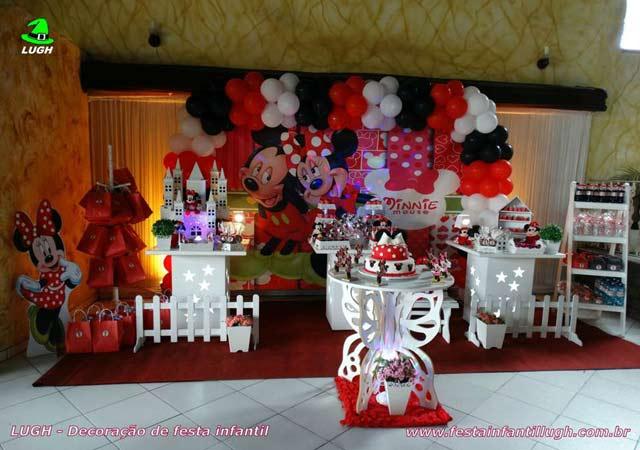 Decoração de festa tema da Minnie -Aniversário infantil - Provençal simples