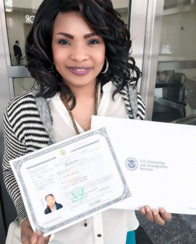 Laide Bakare officially becomes a U.S Citizen(Photo)