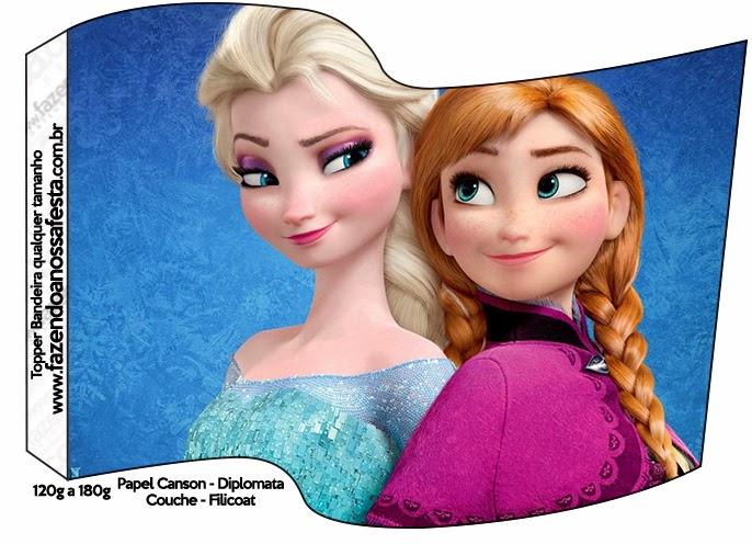 Frozen: Banderitas o toppers para cupcakes o para poner en la comida.