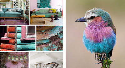 Lilac, aqua, and turquoise color palette via Cozy•Stylish•Chic