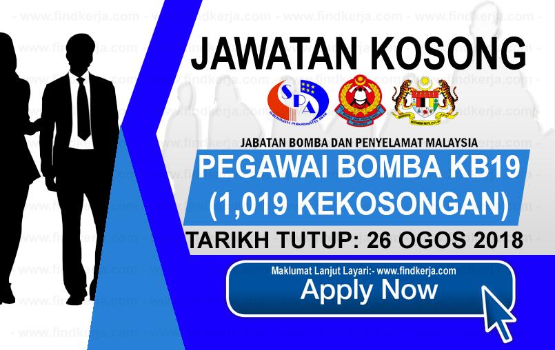 Jawatan Kerja Kosong Jabatan Bomba dan Penyelamat Malaysia logo www.ohjob.info www.findkerja.com ogos 2018