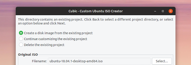 Cubic Custom Ubuntu or Linux Mint ISO creator