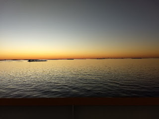 sunset on Galveston Bay