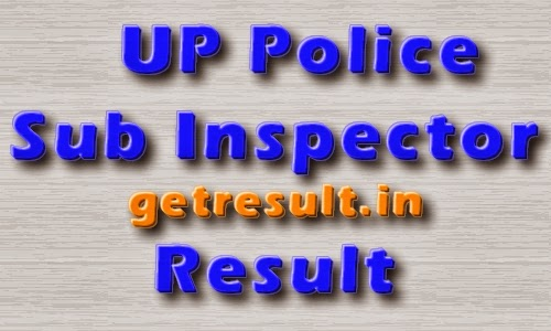 UP Police Sub Inspector Result 2014