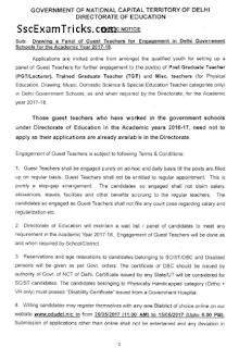 Delhi Guest TGT PGT PRT Teacher Recruitment