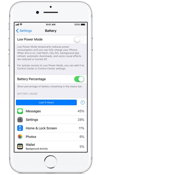 how to put percentage on iphone 6