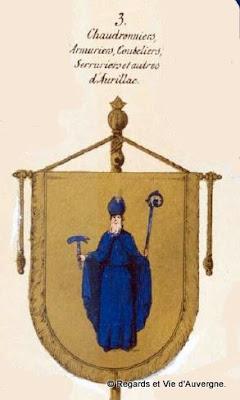 bannière des chaudronniers d'Aurillac, Cantal.