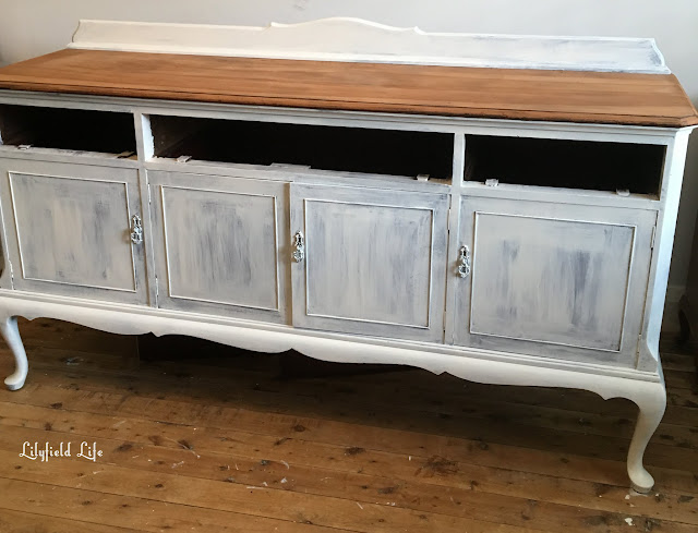 French Provincial hand painted sideboard by Lilyfield life - primed and ready for painting