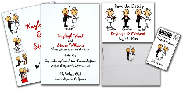 Stick Figure Wedding Invitations