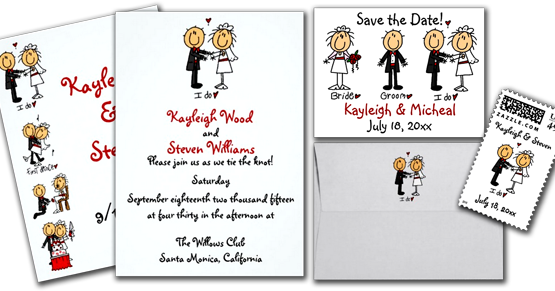 Wedding Cards And Gifts Stick Figure Invitation