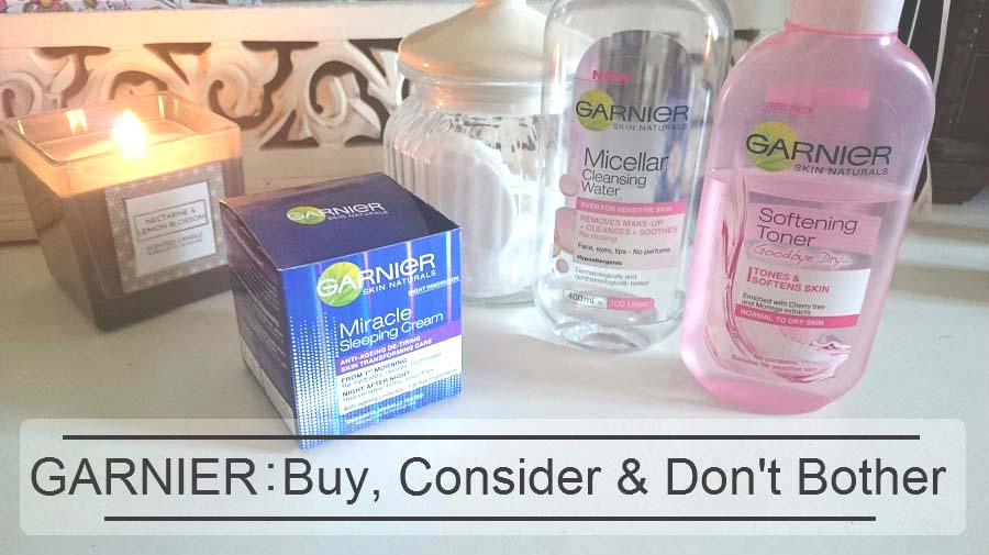 Garnier Miracle Sleeping Cream review, Garnier Micellar Water, Garnier Softening Toner, Beauty Blog review, The Style Guide Blog