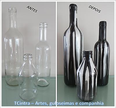 ARTESANATO; DECORAÇÃO; GARRAFAS; RECICLAGEM; pintura em garrafas; arte com garrafas; reutilizando garrafas; lixo é luxo; garrafa com esmalte sintético