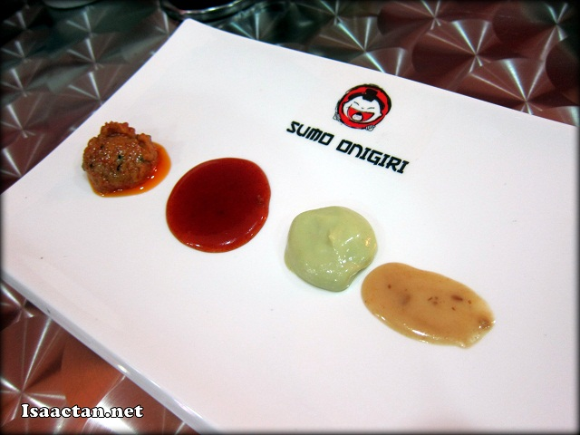 The different types of sauce to enjoy at Sumo Onigiri