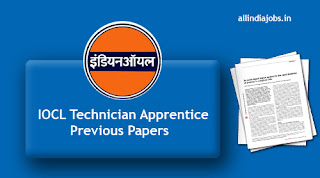 IOCL Technician Apprentice Previous Papers
