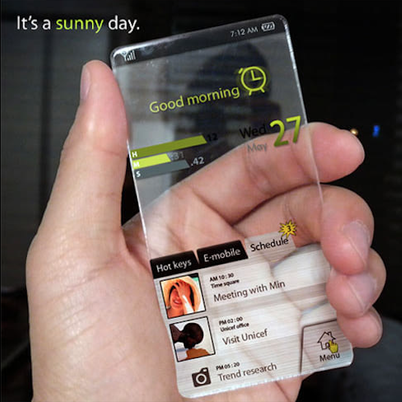 Has the transparent smartphones launched?