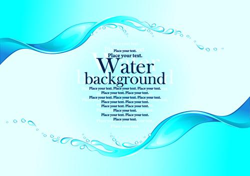 Creative water art backgrounds Free vector