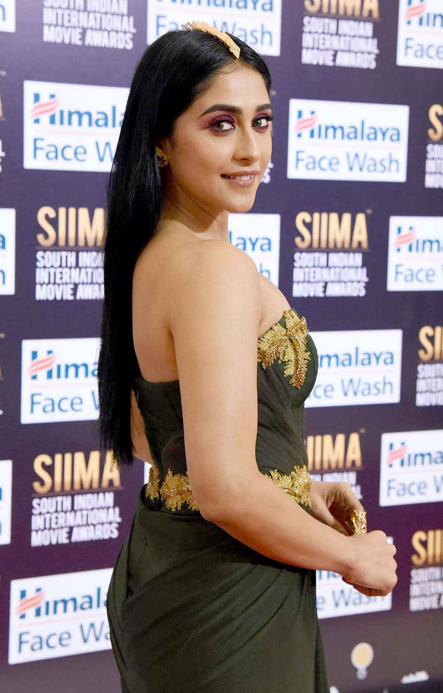 Regina Cassandra Poses 6th SIIMA at Abu Dhabi National Exhibition Centre In Abu Dhabi