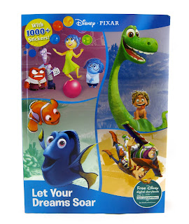 let your dreams soar pixar coloring sticker book