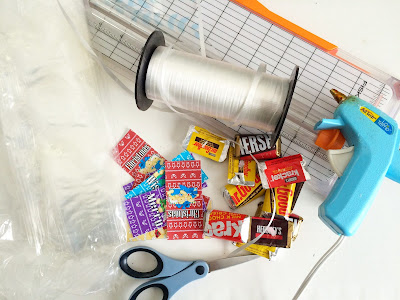 Ingredients Needed to make Candy Bar Party Favors for your Christmas Party