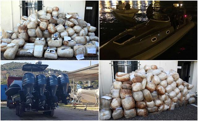 Εξάρθρωση οργάνωσης διακίνησης μεγάλων φορτίων ναρκωτικών με ταχύπλοα σκάφη σε Ιόνιο και Αιγαίο (ΦΩΤΟ+ΒΙΝΤΕΟ)