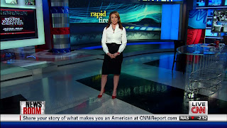 Ladies in Satin Blouses: Brooke Baldwin - white blouse