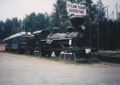 Pickering Lumber Company 3-Truck Heisler #10 at Elbe, Washington, in August 1998