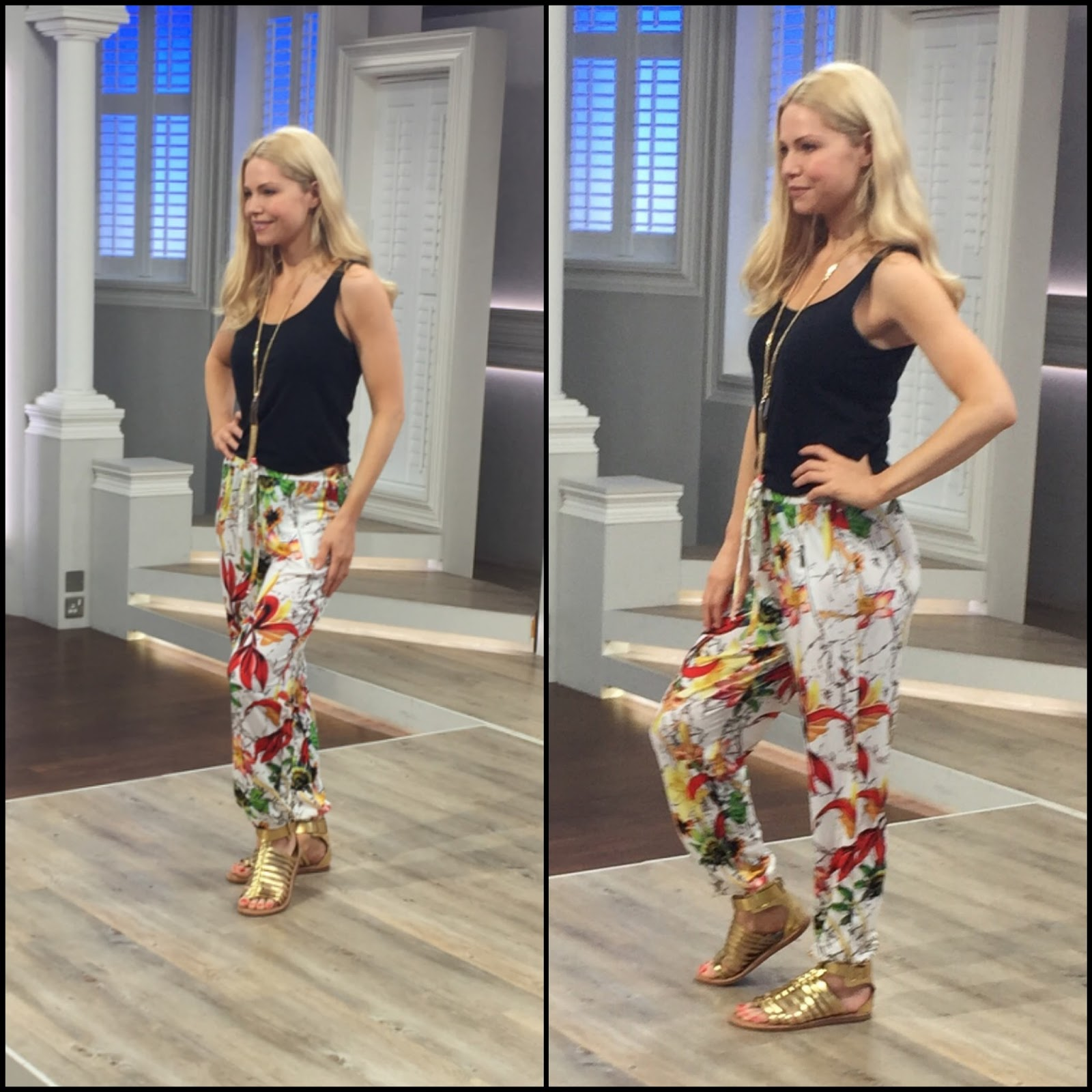 Nv nick verreosqvc uk nv nick verreos spring 2017 show recap tropical chic my nv nick verreos qvc uk tropical printed jersey knit jogger pants with drawstring waist click here to get ccuart Gallery
