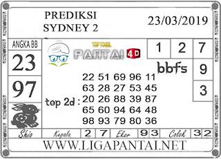 "Prediksi Togel ""SYDNEY 2"" PANTAI4D 23 MARET 2019"