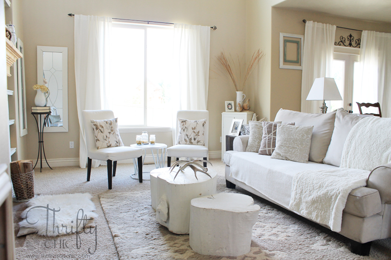 Thrifty and Chic - DIY Projects and Home Decor - redecorating living room