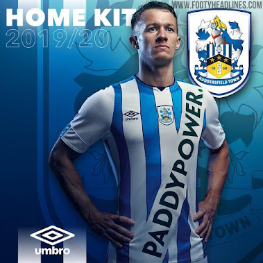 d5e9256c On Pitch: Huddersfield 19-20 Home Kit with Fake PaddyPower Sponsor