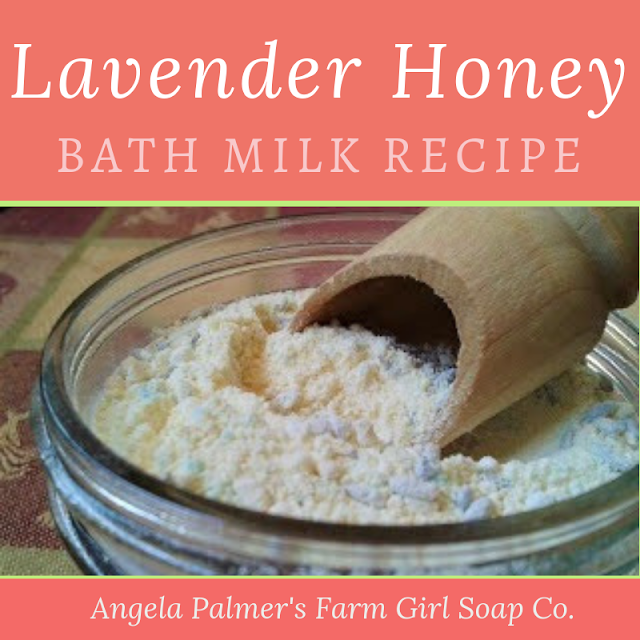 This DIY bath milk recipe is incredibly relaxing and leaves your skin silky soft. Whip up this Lavender Honey Bath Milk in just minutes. It's all natural and can safely sit on your shelf without refrigeration. By Angela Palmer at Farm Girl Soap Co.