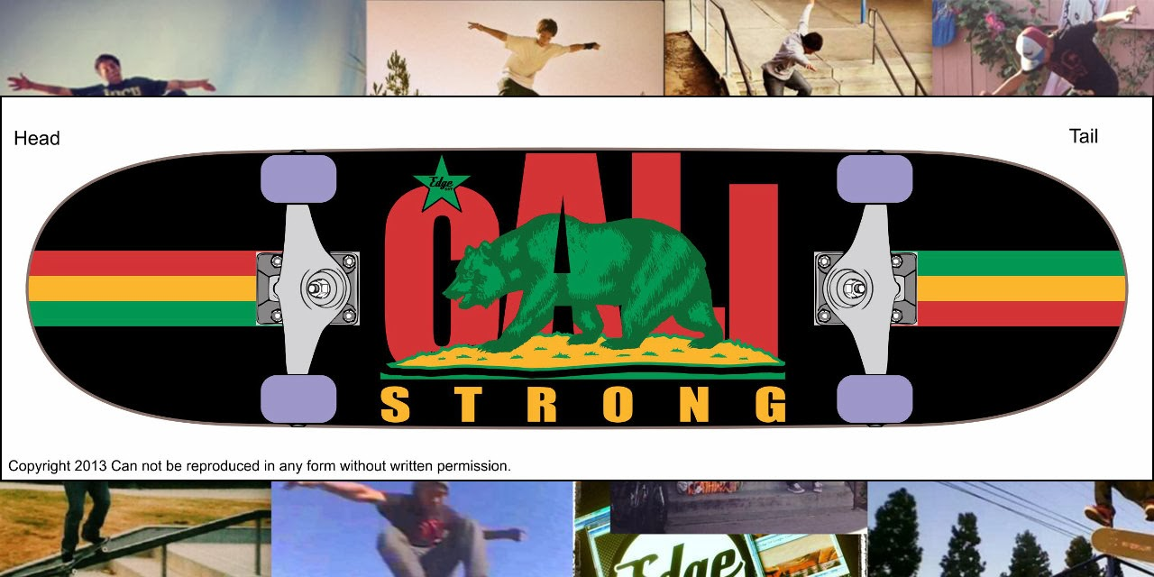 CALI Strong Rasta Skateboard Trick