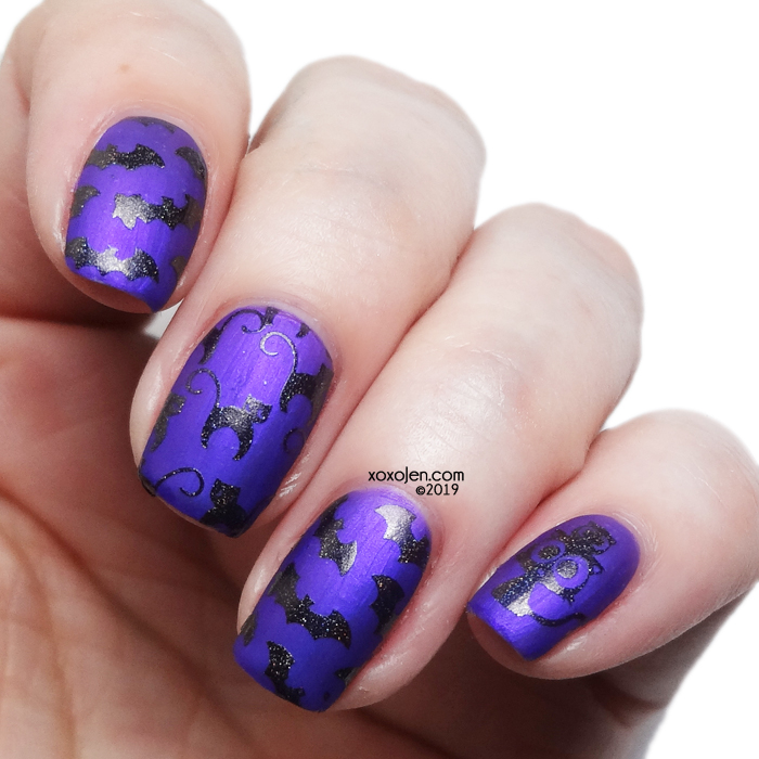 xoxoJen's swatch of Rogue Lacquer Binx over Amuck Amuck Amuck