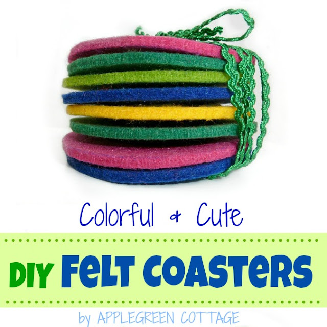Tutorial: How to make easy felt coasters. An eye-catcher at any party, and a perfect homemade gift!