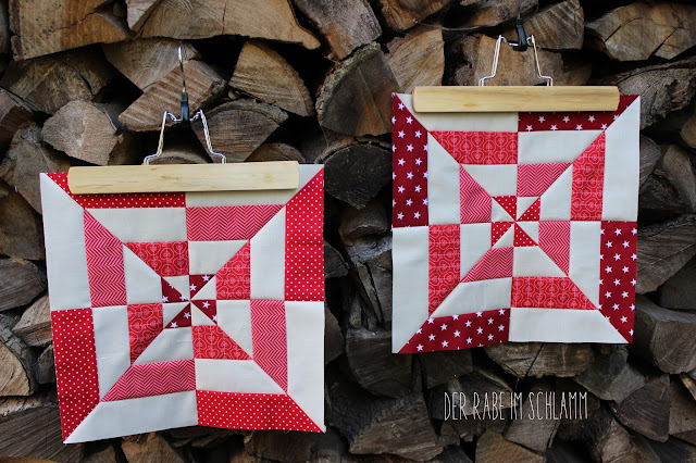 Der Rabe im Schlamm, Quiltblock, Windmill Block, Patchwork, Quilt, Fall Block Party, fabricdotcomblockparty