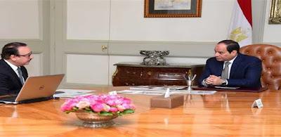 الرئيس عبد الفتاح السيسى ووزير الاتصالات