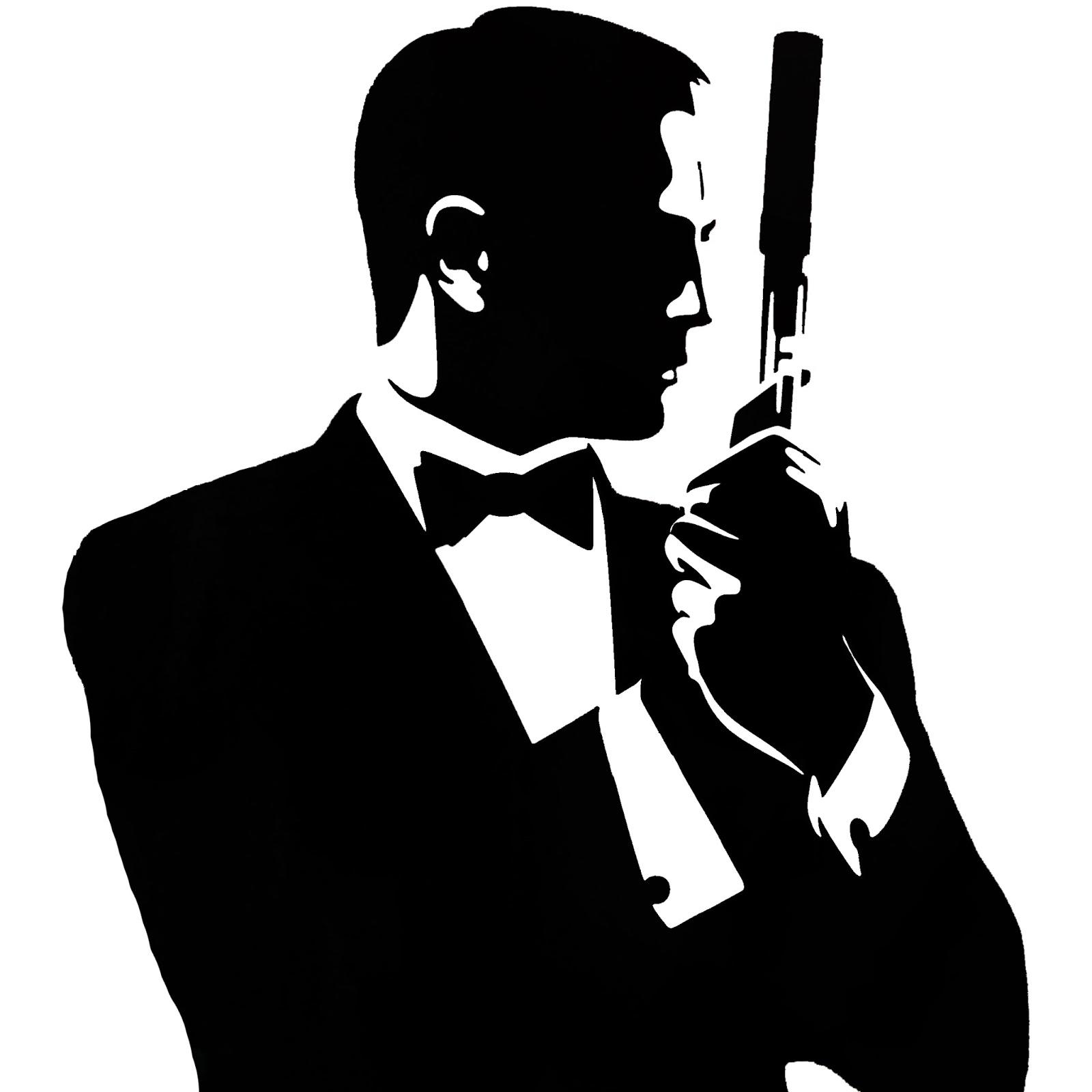 коробка картинки черно-белые силуэт мистер бонд классика спальни