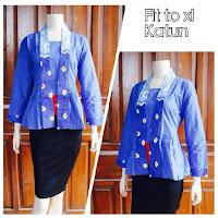 Model Baju Batik Modern Terbaru 2015 Baju Blus Batik Atasan Wanita