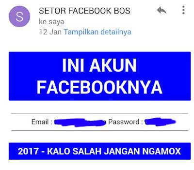 Hasil Phising Facebook