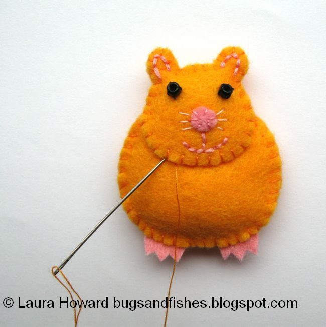 Bugs And Fishes By Lupin: How To: Make A Mini Felt Hamster