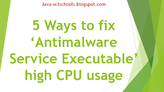 How to fix 'Antimalware Service Executable' high CPU usage | 5 Best Ways Explained