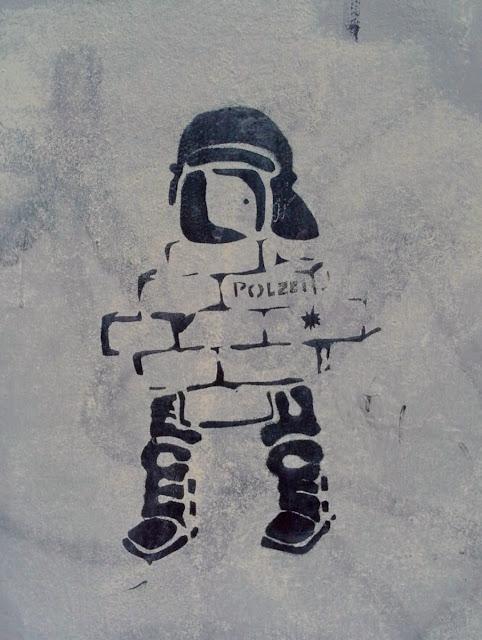 kleines dezentes Stencil unweit des Hamburger Gängeviertels