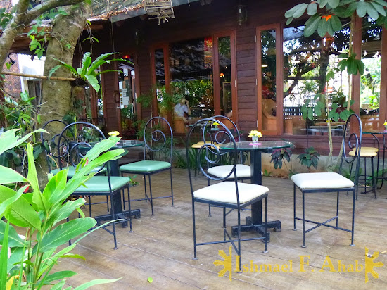 Tables and chairs at Le Petit Cafe, Chiang Rai
