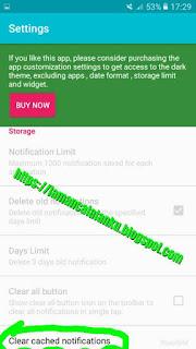 clear cached notifications untuk hapus riwayat notifikasi