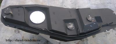 Бак на Паджеро 3 и 4 из алюминия.