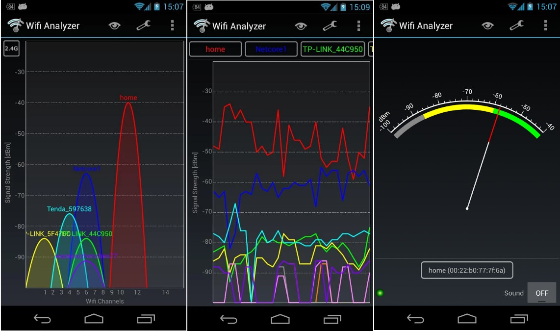 Wifi Analyzer Screenshots