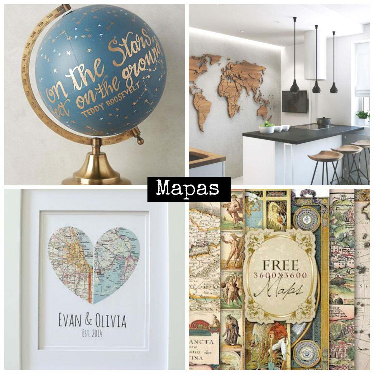 Ideas de Mapas en Decoracin  La Taza de Loza