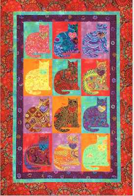 photo about Free Printable Cat Quilt Patterns identify Quilt Motivation: No cost routine working day: Cat and Puppy quilts!